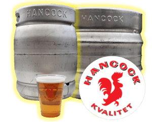 Hancock fustage fadøl pilsner øl fadølsanlæg lej udlejning