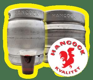 Hancock fustage fadøl pilsner øl fadølsanlæg lej udlejning silkeborg