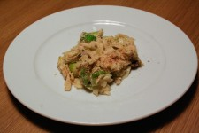 Pasta Dish with Leek and Mushrooms