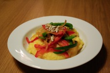 Pepper and Onion Polenta