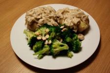 Baked Potatoes with Mushroom Gravy