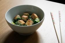 Marinated Tofu and Bok Choy Stirfry