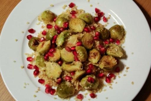 Geroosterde Spruitjes met Granaatappel