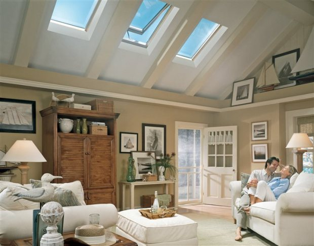 Enjoy easy-on-the-eyes balanced natural light and passive ventilation with Energy Star-qualified solar powered fresh air skylights. They close automatically in case of rain and carry a 10-year warranty against leaks. Operated by touchpad remote control, the skylights, energy efficient solar powered blinds, and installation costs are eligible for a 30 percent federal tax credit. Get details at www.whyskylights.com.