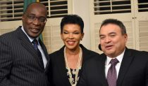 Pictured from l. to r. Minister of Education, Senator Ruel Reid; Her Excellency Audrey Marks; and OAS Assistant Secretary General, Nestor Mendez