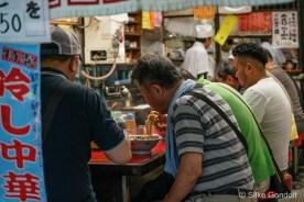 Tokyo Tsukiji Fish Market - hot Ramen soup