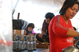 coffee stall at the market