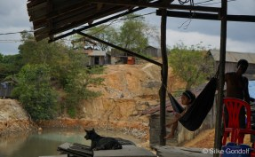 chinese workers live with their families in the mining area