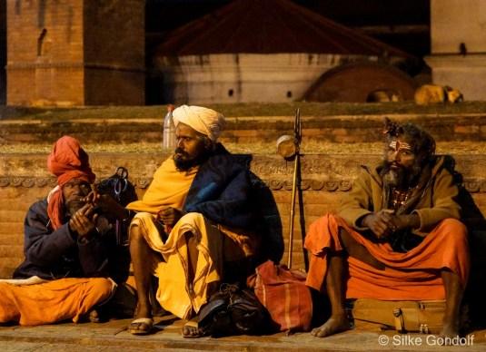 Pilgrims and Sadhus in Kathmandu
