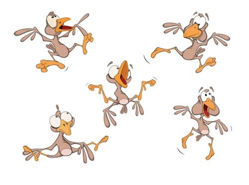 Kommunikation ist vielfältig: aufgeregte Comic-Vögel