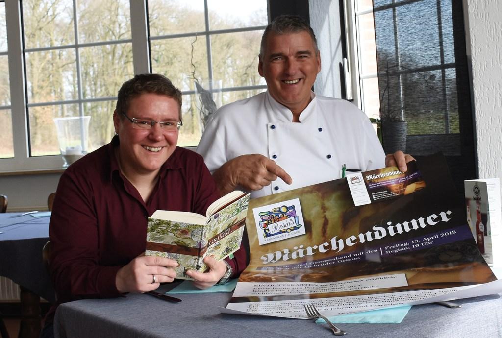 Silke Kronen und Michael Rosin freuen sich auf das gemeinsam organisierte Märchendinner.