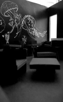"Bar ""Medusa""   Modell für Mural   Silke Müller & Katja Seifert   Projekt: ""Turnton"" von Time's Up"