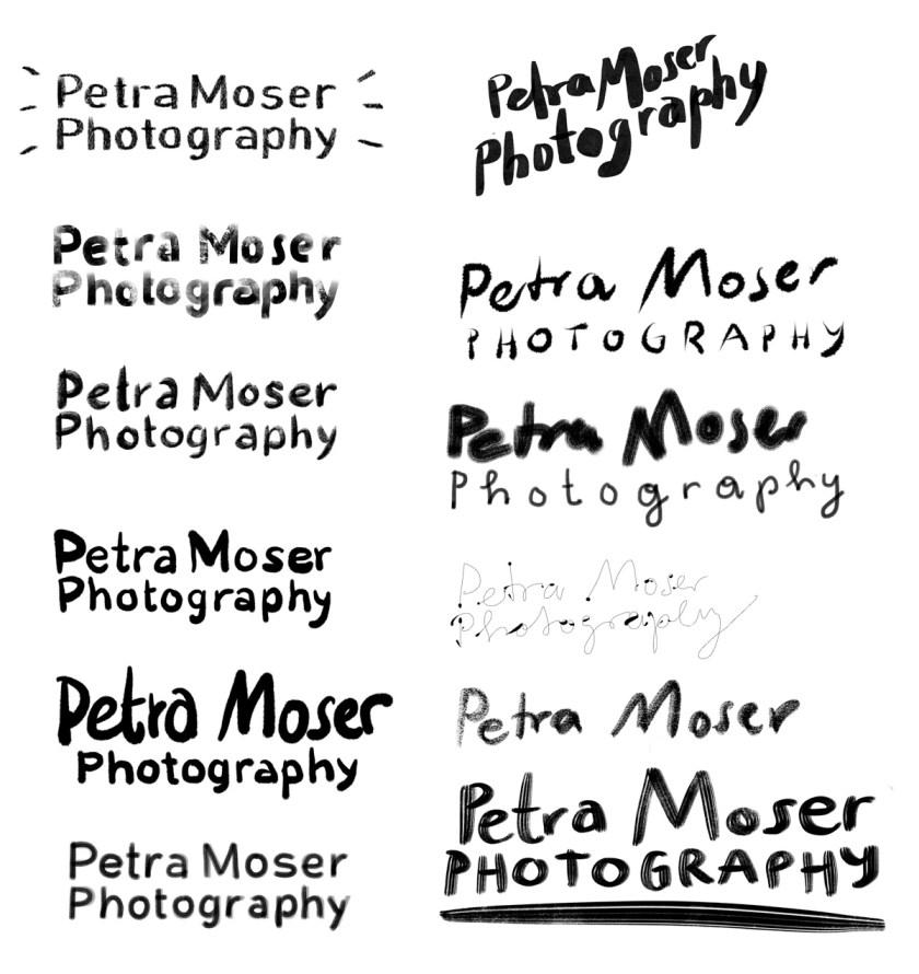 Schrift Varianten für das Logo | Illustration: Silke Müller