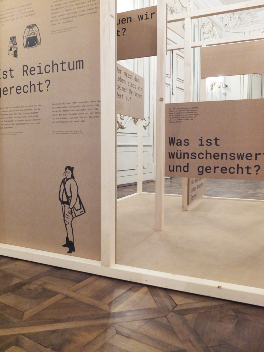 Arm in Österreich · Ausstellung der Akademie Graz und Caritas Steiermark · Illustrationen Silke Müller