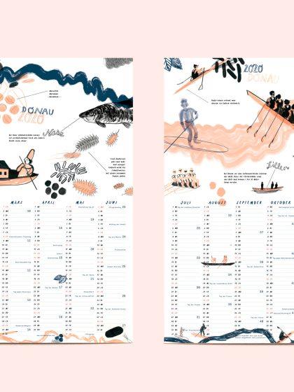 Donaukalender 2020 | Illustration: Silke Müller