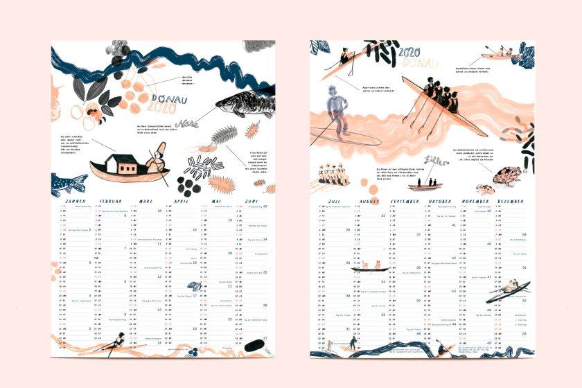 Donaukalender 2020   Illustration: Silke Müller