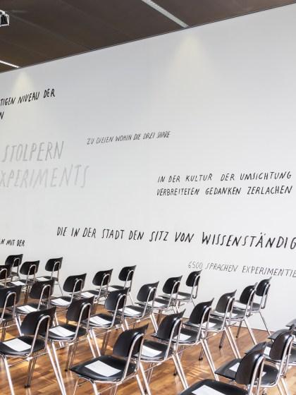 Wandbemalung Mural Kunstuni Inauguration Hütter | Foto © Mark Sengstbratl