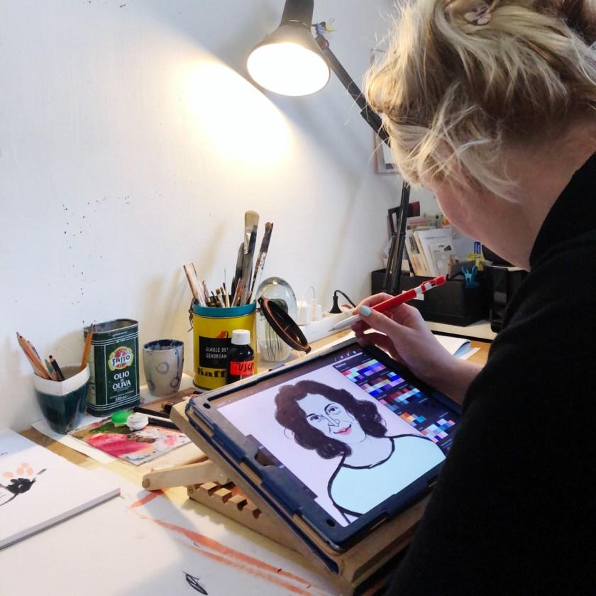 Portrait von Ranya Schauenstein | Illustration: ©Silke Müller