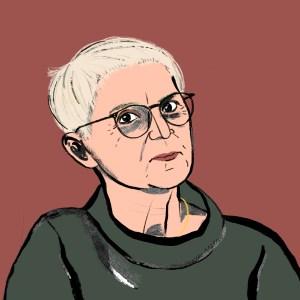 Maria Rösslhumer für Große Töchter Podcast   Beatrice Frasl   Illustration: Silke Müller