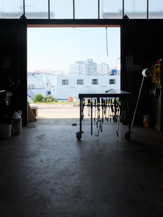 Indoor Hausbau in der Werkstatt von Time's up