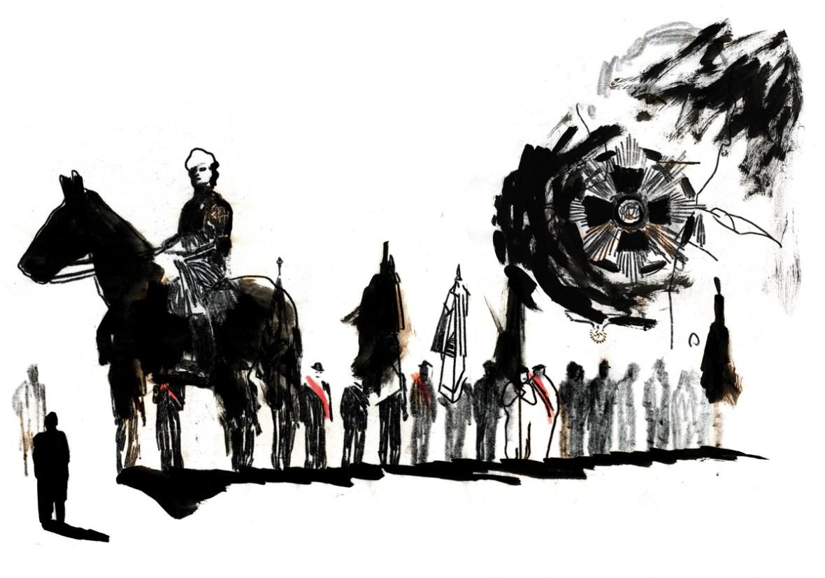 Die Russen kommen und ein Bild | Straßenzeitung Augustin |Illustration: Silke Müller