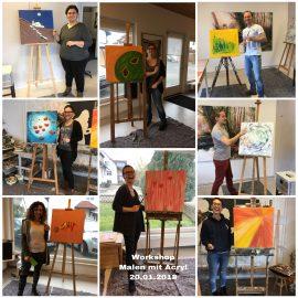 """Workshop Kreativität in der Kunst  mit  der Gruppe """"Jung und Krebs"""""""