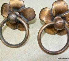Medium Penis Shape Door Pull Or Hook Hand Made Brass 7