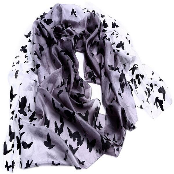 Silk Scarf -Infinity scarf -Butterfly-SPAJ01A2