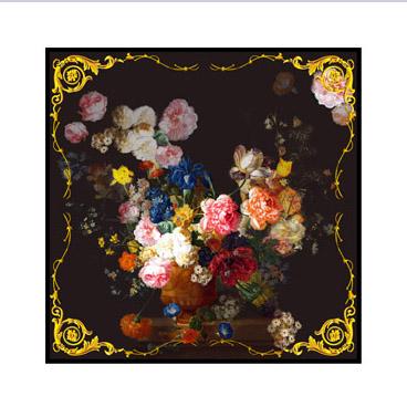 Square Silk Scarf-Silk Scarf-Digital Silk Scarf-100AA020