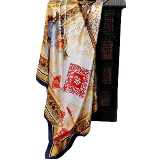110cm Silk Scarf-Square Silk Scarf-Wholesale Scarfs-HA0012B
