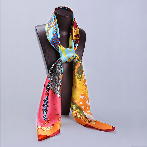 110cm Silk Scarf-Square Silk Scarf-Wholesale Scarfs-HA0020B