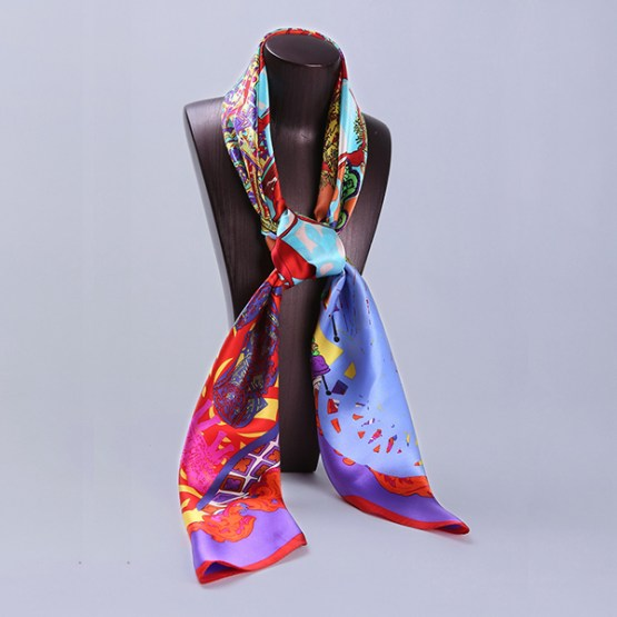 110cm Silk Scarf-Square Silk Scarf-Wholesale Scarfs-HA0020C