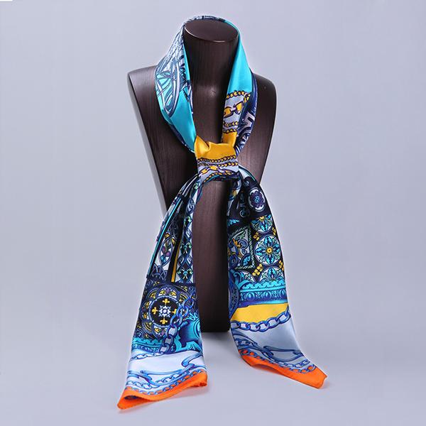 110cm Silk Scarf-Square Silk Scarf-Wholesale Scarfs-HA0021B