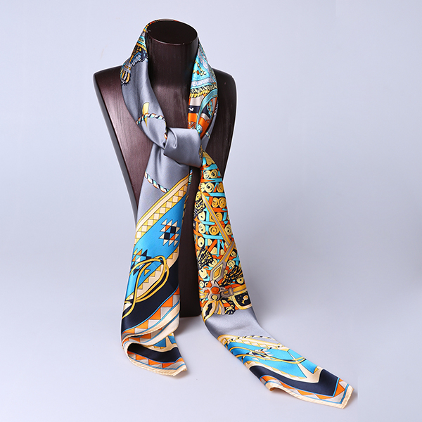 110cm Silk Scarf-Square Silk Scarf-Wholesale Scarfs-HA0022A