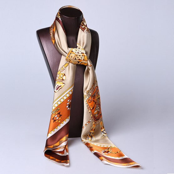 110cm Silk Scarf-Square Silk Scarf-Wholesale Scarfs-HA0022D