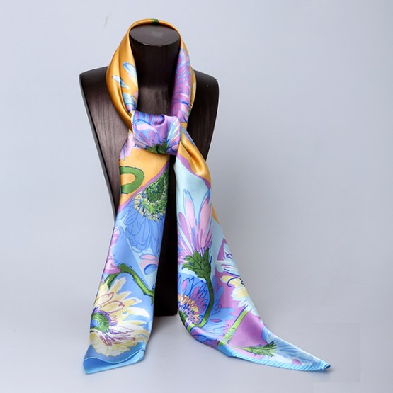 110cm Silk Scarf-Square Silk Scarf-Wholesale Scarfs-HA0027A