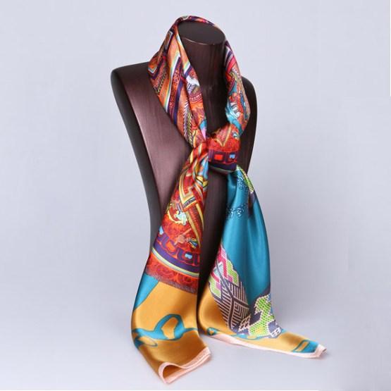 110cm Silk Scarf-Square Silk Scarf-Wholesale Scarfs-HA0033A