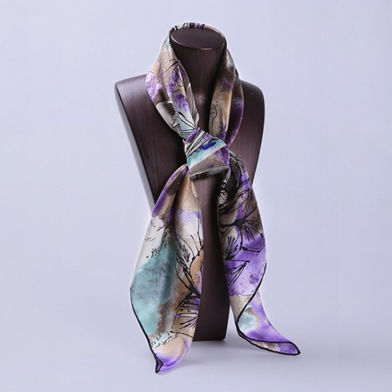 90cm Silk Scarf-Square Silk Scarf-Wholesale Scarfs-HA612D
