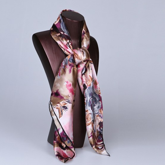 90cm Silk Scarf-Square Silk Scarf-Wholesale Scarfs-HA613A