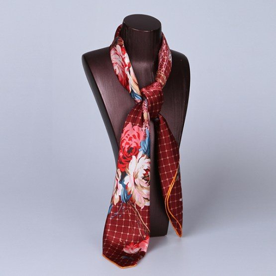90cm Silk Scarf-Square Silk Scarf-Wholesale Scarfs-HA620A