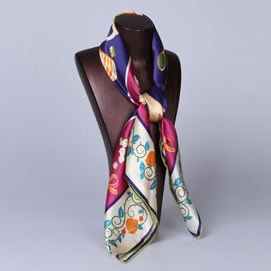 90cm Silk Scarf-Square Silk Scarf-Wholesale Scarfs-HA621A