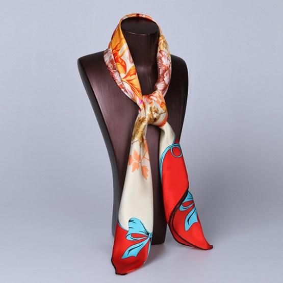90cm Silk Scarf-Square Silk Scarf-Wholesale Scarfs-HA622A
