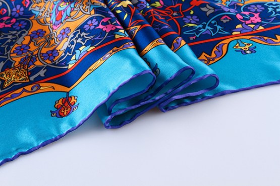 90cm Silk Scarf-Square Silk Scarf-Wholesale Scarfs-HA624A3