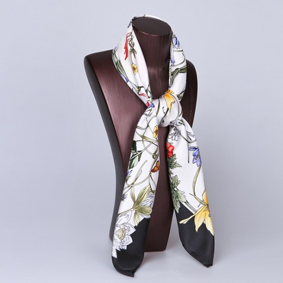 90cm Silk Scarf-Square Silk Scarf-Wholesale Scarfs-HA626A