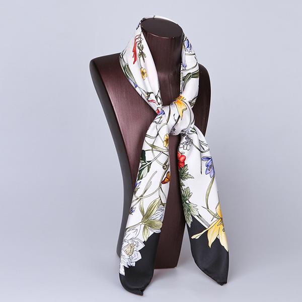 90cm Silk Scarf-Square Silk Scarf-Wholesale Scarfs-HA626A