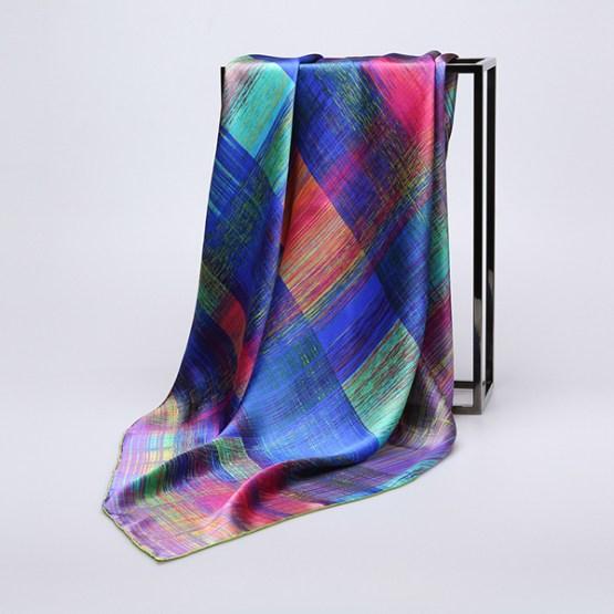90cm Silk Scarf-Square Silk Scarf-Wholesale Scarfs-HA637C