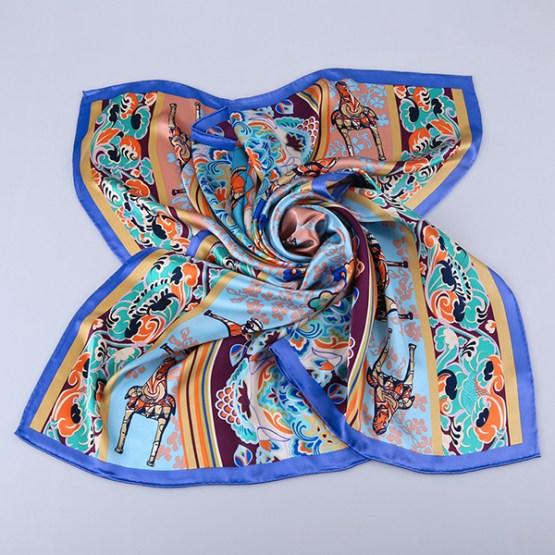90cm Silk Scarf-Square Silk Scarf-Wholesale Scarfs-HA642B