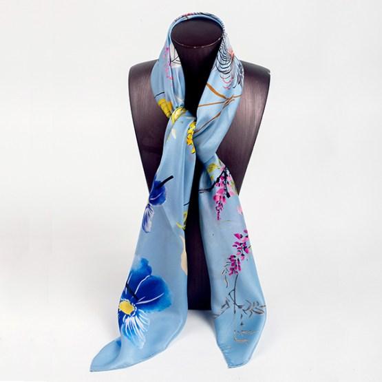 90cm Silk Scarf-Square Silk Scarf-Wholesale Scarfs-HA646A
