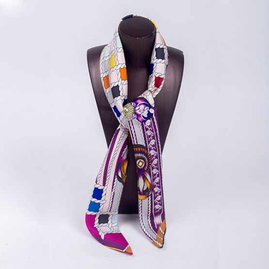 90cm Silk Scarf-Square Silk Scarf-Wholesale Scarfs-HA7015C
