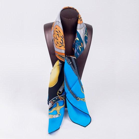 90cm Silk Scarf-Square Silk Scarf-Wholesale Scarfs-HA7017B